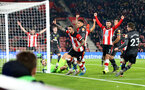 SOUTHAMPTON, ENGLAND - DECEMBER 04: Danny Ings of Southampton celebrates after opening the scoring during the Premier League match between Southampton FC and Norwich City at St Mary's Stadium on December 04, 2019 in Southampton, United Kingdom. (Photo by Matt Watson/Southampton FC via Getty Images)