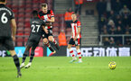 SOUTHAMPTON, ENGLAND - DECEMBER 04: Alexander Tettey(L) and James Ward-Prowse of Southampton during the Premier League match between Southampton FC and Norwich City at St Mary's Stadium on December 04, 2019 in Southampton, United Kingdom. (Photo by Matt Watson/Southampton FC via Getty Images)