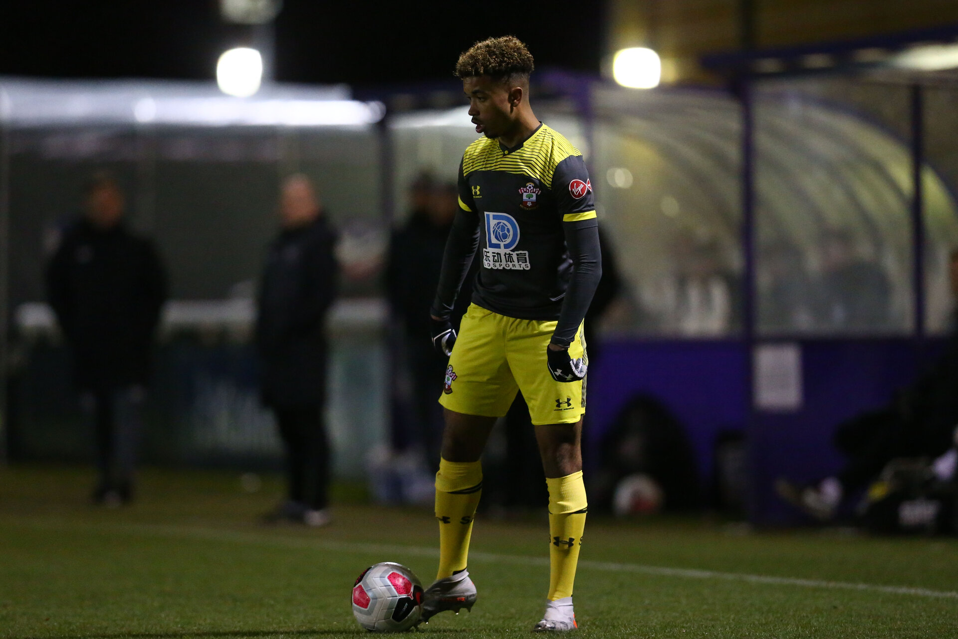 LOUGHBOUROUGH, ENGLAND - DECEMBER 10: Enzo Robise during Premier League International Cup match between Derby County and Southampton at Loughborough University Stadium on December 10 2019 in Loughborough, England (Photo by Isabelle Field/Southampton FC via Getty Images)