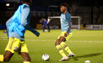 LOUGHBOUROUGH, ENGLAND - DECEMBER 11:  warm up ahead of FA Youth Cup between Bristol Rovers and SouthamptonU18s at Memorial Stadium on December 11 2019 in Bristol, England (Photo by Isabelle Field/Southampton FC via Getty Images)