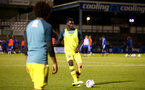 LOUGHBOUROUGH, ENGLAND - DECEMBER 11: warm up aeahd of the FA Youth Cup between Bristol Rovers and SouthamptonU18s at Memorial Stadium on December 11 2019 in Bristol, England (Photo by Isabelle Field/Southampton FC via Getty Images)