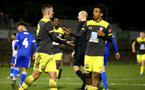 LOUGHBOUROUGH, ENGLAND - DECEMBER 11:  Sam Bellis and Caleb Watts goal  celebration during FA Youth Cup between Bristol Rovers and SouthamptonU18s at Memorial Stadium on December 11 2019 in Bristol, England (Photo by Isabelle Field/Southampton FC via Getty Images)