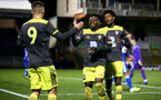 LOUGHBOUROUGH, ENGLAND - DECEMBER 11:  goal celebration during FA Youth Cup between Bristol Rovers and SouthamptonU18s at Memorial Stadium on December 11 2019 in Bristol, England (Photo by Isabelle Field/Southampton FC via Getty Images)