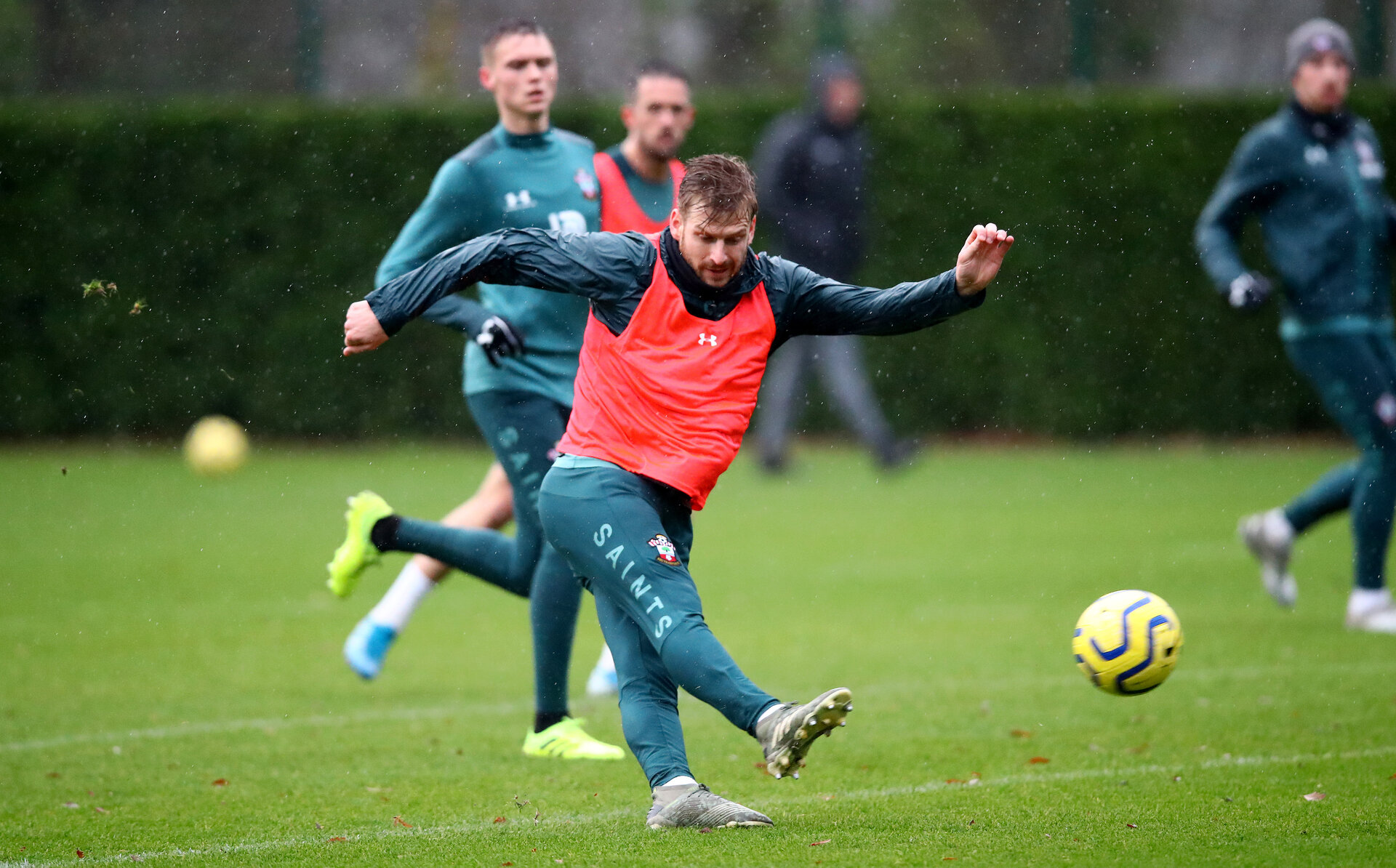 SOUTHAMPTON, ENGLAND - DECEMBER 09: Stuart Armstrong during a Southampton FC training session on December 12, 2019 in Southampton, England. (Photo by Matt Watson/Southampton FC via Getty Images)