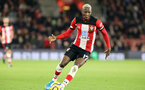 SOUTHAMPTON, ENGLAND - DECEMBER 14: Moussa Djenepo during the Premier League match between Southampton FC and West Ham United at St Mary's Stadium on December 14, 2019 in Southampton, United Kingdom. (Photo by Chris Moorhouse/Southampton FC via Getty Images)