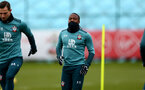 SOUTHAMPTON, ENGLAND - DECEMBER 17: Michael Obafemi during a Southampton FC training session at the Staplewood Campus on December 17, 2019 in Southampton, England. (Photo by Isabelle Field/Southampton FC via Getty Images)