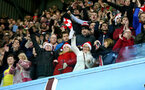BIRMINGHAM, ENGLAND - DECEMBER 21: Southampton FC fans during the Premier League match between Aston Villa and Southampton FC at Villa Park on December 21, 2019 in Birmingham, United Kingdom. (Photo by Matt Watson/Southampton FC via Getty Images)