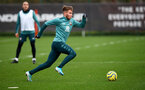 SOUTHAMPTON, ENGLAND - DECEMBER 29: Jake Vokins during a Southampton FC training session at the Staplewood Complex on December 29, 2019 in Southampton, England. (Photo by Matt Watson/Southampton FC via Getty Images)
