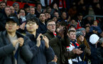 SOUTHAMPTON, ENGLAND - JANUARY 01: fans during the Premier League match between Southampton FC and Tottenham Hotspur at St Mary's Stadium on January 1, 2020 in Southampton, United Kingdom. (Photo by Isabelle Field/Southampton FC via Getty Images)