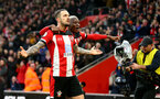 SOUTHAMPTON, ENGLAND - JANUARY 01: Danny Ings(L) of Southampton celebrates with Moussa Djenepo during the Premier League match between Southampton FC and Tottenham Hotspur at St Mary's Stadium on January 01, 2020 in Southampton, United Kingdom. (Photo by Matt Watson/Southampton FC via Getty Images)
