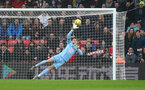 SOUTHAMPTON, ENGLAND - JANUARY 01: Alex McCarthy of Southampton saves during the Premier League match between Southampton FC and Tottenham Hotspur at St Mary's Stadium on January 01, 2020 in Southampton, United Kingdom. (Photo by Matt Watson/Southampton FC via Getty Images)