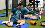 SOUTHAMPTON, ENGLAND - JANUARY 02: Cedric Soares during a Southampton FC recovery session at the Staplewood Campus on January 02, 2020 in Southampton, England. (Photo by Matt Watson/Southampton FC via Getty Images)