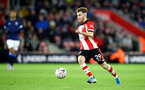 SOUTHAMPTON, ENGLAND - JANUARY 04: Jake Vokins of Southampton during the FA Cup Third Round match between Southampton FC and Huddersfield Town at St. Mary's Stadium on January 04, 2020 in Southampton, England. (Photo by Matt Watson/Getty Images)