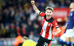 SOUTHAMPTON, ENGLAND - JANUARY 04: Jake Vokins of Southampton celebrates after scoring his teams second goal during the FA Cup Third Round match between Southampton FC and Huddersfield Town at St. Mary's Stadium on January 04, 2020 in Southampton, England. (Photo by Matt Watson/Getty Images)