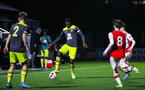 BOREHAMWOOD, ENGLAND - JANUARY 09: Pascal Kpohomouh of Southampton FC in possession during the FA Youth Cup Fourth Round match between Arsenal U18s and Southampton FC U18s at Meadow Park on January 09, 2020 in Borehamwood, England