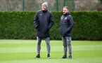 SOUTHAMPTON, ENGLAND - JANUARY 16: Manager Ralph Hasenhuttl(L) and First Team Coach Richard Kitzbichler during a Southampton FC training session at the Staplewood Campus on January 16, 2020 in Southampton, England. (Photo by Matt Watson/Southampton FC via Getty Images)