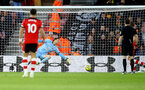 SOUTHAMPTON, ENGLAND - JANUARY 18: Alex McCarthy of Southampton is beaten during the Premier League match between Southampton FC and Wolverhampton Wanderers at St Mary's Stadium on January 18, 2020 in Southampton, United Kingdom. (Photo by Matt Watson/Southampton FC via Getty Images)