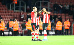 SOUTHAMPTON, ENGLAND - JANUARY 18: Southampton players dejected during the Premier League match between Southampton FC and Wolverhampton Wanderers at St Mary's Stadium on January 18, 2020 in Southampton, United Kingdom. (Photo by Matt Watson/Southampton FC via Getty Images)