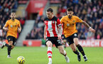 SOUTHAMPTON, ENGLAND - JANUARY 18: Pierre-Emile Hojbjerg during the Premier League match between Southampton FC and Wolverhampton Wanderers at St Marys Stadium on January 18, 2020 in Southampton, United Kingdom. (Photo by Chris Moorhouse/Southampton FC via Getty Images)