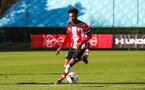 SOUTHAMPTON, ENGLAND - JANUARY 18: Ramello Mitchell of Southampton FC during the Barclays Under 18 Premier League match between Southampton FC and Arsenal FC at the Staplewood Campus on January 18, 2020 in Southampton, England