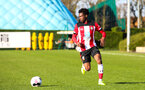 SOUTHAMPTON, ENGLAND - JANUARY 18: Zuriel Otseh-Taiwo of Southampton FC in possession during the Barclays Under 18 Premier League match between Southampton FC and Arsenal FC at the Staplewood Campus on January 18, 2020 in Southampton, England