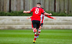 SOUTHAMPTON, ENGLAND - JANUARY 23: Jack Turner of Southampton FC celebrates after scoring his side's second goal during the Barclays Under 18 Premier League match between Southampton FC and Swansea City at the Staplewood Campus on January 23, 2020 in Southampton, England