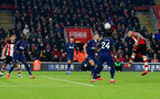 SOUTHAMPTON, ENGLAND - JANUARY 25: Danny Ings of Southampton heads at goal during the FA Cup Fourth Round match between Southampton FC and Tottenham Hotspur at St. Mary's Stadium on January 25, 2020 in Southampton, England. (Photo by Matt Watson/Southampton FC via Getty Images)