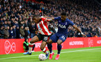 SOUTHAMPTON, ENGLAND - JANUARY 25: Michael Obafemi during the FA Cup Fourth Round match between Southampton FC and Tottenham Hotspur at St. Mary's Stadium on January 25, 2020 in Southampton, England. (Photo by Isabelle Field/Southampton FC via Getty Images)