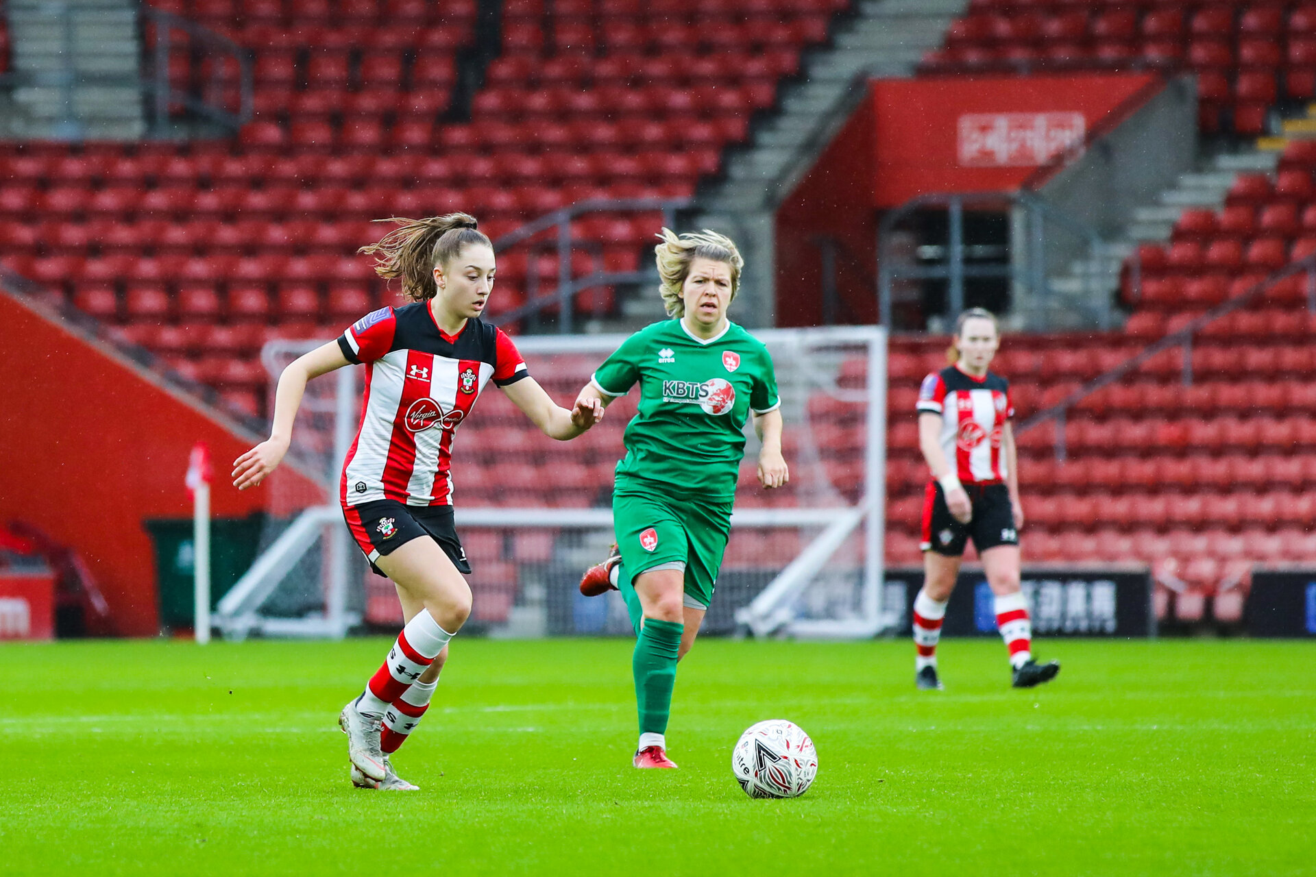 SOUTHAMPTON, ENGLAND - JANUARY 26: during the Women's FA Cup Fourth Round match between Southampton Womens FC and Coventry United Ladies at St Mary's Stadium on January 26, 2020 in Southampton, England