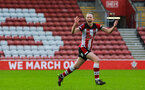 SOUTHAMPTON, ENGLAND - JANUARY 26: Rachel Panting of Southampton Womens FC celebrates scoring her side's first goal during the Women's FA Cup Fourth Round match between Southampton Womens FC and Coventry United Ladies at St Mary's Stadium on January 26, 2020 in Southampton, England