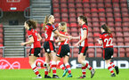 SOUTHAMPTON, ENGLAND - JANUARY 26: Cattlin Morris (L) and Rachel Panting (R) during the Women's FA Cup Fourth Round match between Southampton FC and Coventry United Ladies at St. Mary's Stadium on January 26, 2020 in Southampton, England. (Photo by Isabelle Field/Southampton FC via Getty Images)
