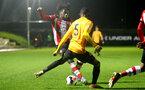 SOUTHAMPTON, ENGLAND - FEBRUARY 03: Alex Janekewitz during the Premier League 2 match between Southampton FC and Wolverhampton Wonderers at Staplewood Training Ground on February 03, 2020 in Southampton, England. (Photo by Isabelle Field/Southampton FC via Getty Images)
