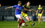 PORTSMOUTH, ENGLAND - FEBRUARY 05: Rachel Panting during the National League Cup quarter-final game between Portsmouth and Southampton Women at Privett Park Stadium on February 05, 2020 in Portsmouth, England. (Photo by Isabelle Field/Southampton FC via Getty Images)