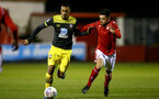 NOTTINGHAM, ENGLAND - FEBRUARY 07: Yan Valery during the Premier League Cup between Nottingham Forest and Southampton U23 at Impact Arena Stadium on February 07, 2020 in Nottingham, England. (Photo by Isabelle Field/Southampton FC via Getty Images)