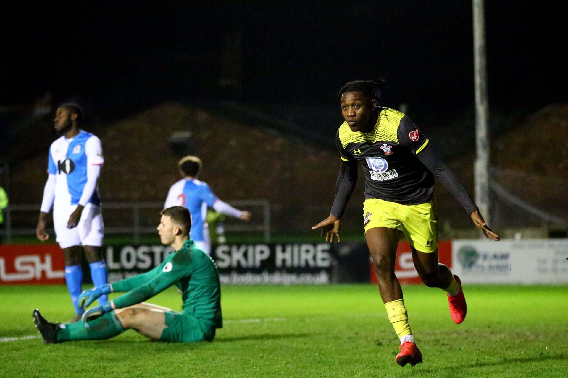 BLACKBURN, ENGLAND - November 27: Dan N'Lundulu of Southampton during PL2 match between Blackburn and Southampton at Lancashire County FA on February 14 2020, in Blackburn  (Photo by Isabelle Field/Southampton FC via Getty Images)
