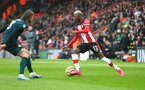 SOUTHAMPTON, ENGLAND - FEBRUARY 15: Moussa Djenepo of Southampton during the Premier League match between Southampton FC and Burnley FC at St Mary's Stadium on February 15, 2020 in Southampton, United Kingdom. (Photo by Matt Watson/Southampton FC via Getty Images)
