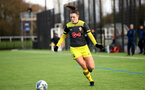 EXETER, ENGLAND - February 16: Ella Pusey during the SRWFL at Cat and Fiddle Training Ground between Exeter and Southampton Women on February 16 2020, Exeter, England. (Photo by Isabelle Field/Southampton FC via Getty Images)