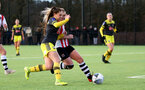EXETER, ENGLAND - February 16: Georgie Freeland during the SRWFL at Cat and Fiddle Training Ground between Exeter and Southampton Women on February 16 2020, Exeter, England. (Photo by Isabelle Field/Southampton FC via Getty Images)
