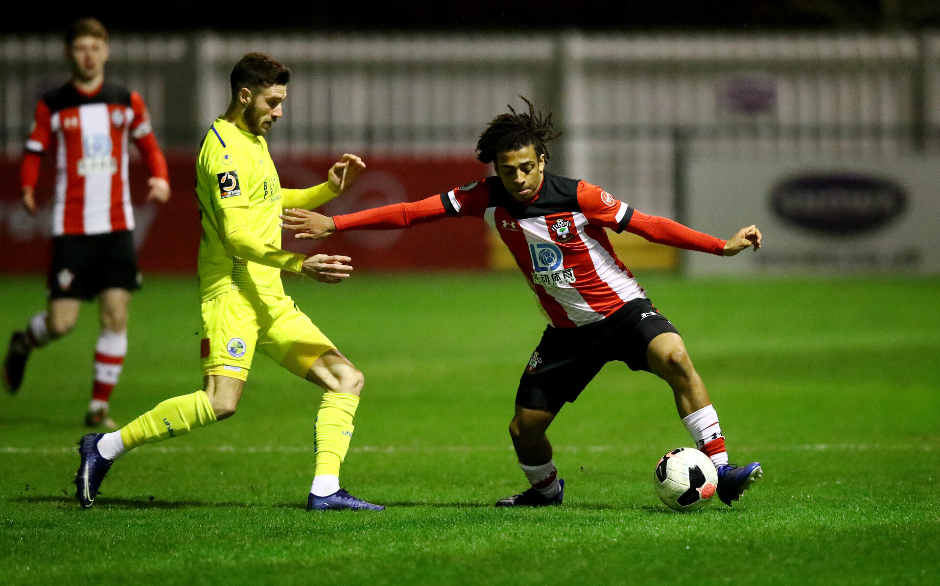 SOUTHAMPTON, ENGLAND - FEBRUARY 18: Caleb Watts of Southampton during the Hampshire Senior Cup match between Southampton FC and Havant and Waterlooville at the Snows Stadium, Totton, on February 18, 2020 in Southampton, England. (Photo by Matt Watson/Southampton FC via Getty Images)