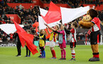 SOUTHAMPTON, ENGLAND - FEBRUARY 22: Children wave flags during the Premier League match between Southampton FC and Aston Villa at St Mary's Stadium on February 22, 2020 in Southampton, United Kingdom. (Photo by Chris Moorhouse/Southampton FC via Getty Images)