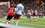 SOUTHAMPTON, ENGLAND - FEBRUARY 22: Shane Long(R) of Southampton opens the scoring during the Premier League match between Southampton FC and Aston Villa at St Mary's Stadium on February 22, 2020 in Southampton, United Kingdom. (Photo by Matt Watson/Southampton FC via Getty Images)