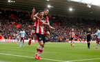 SOUTHAMPTON, ENGLAND - FEBRUARY 22: Shane Long(L) of Southampton celebrates with team mate Danny Ings(R) after opening the scoring during the Premier League match between Southampton FC and Aston Villa at St Mary's Stadium on February 22, 2020 in Southampton, United Kingdom. (Photo by Matt Watson/Southampton FC via Getty Images)