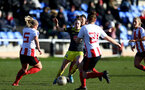 SUNDERLAND, ENGLAND - February 23: Ella Morris during the FAWNL semi-final at The Eppleton Colliery Welfare Ground between Sunderland and Southampton Women on February 23 2020, Sunderland, England. (Photo by Isabelle Field/Southampton FC via Getty Images)