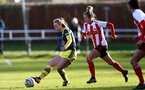 SUNDERLAND, ENGLAND - February 23: Rosie Parnell during the FAWNL semi-final at The Eppleton Colliery Welfare Ground between Sunderland and Southampton Women on February 23 2020, Sunderland, England. (Photo by Isabelle Field/Southampton FC via Getty Images)
