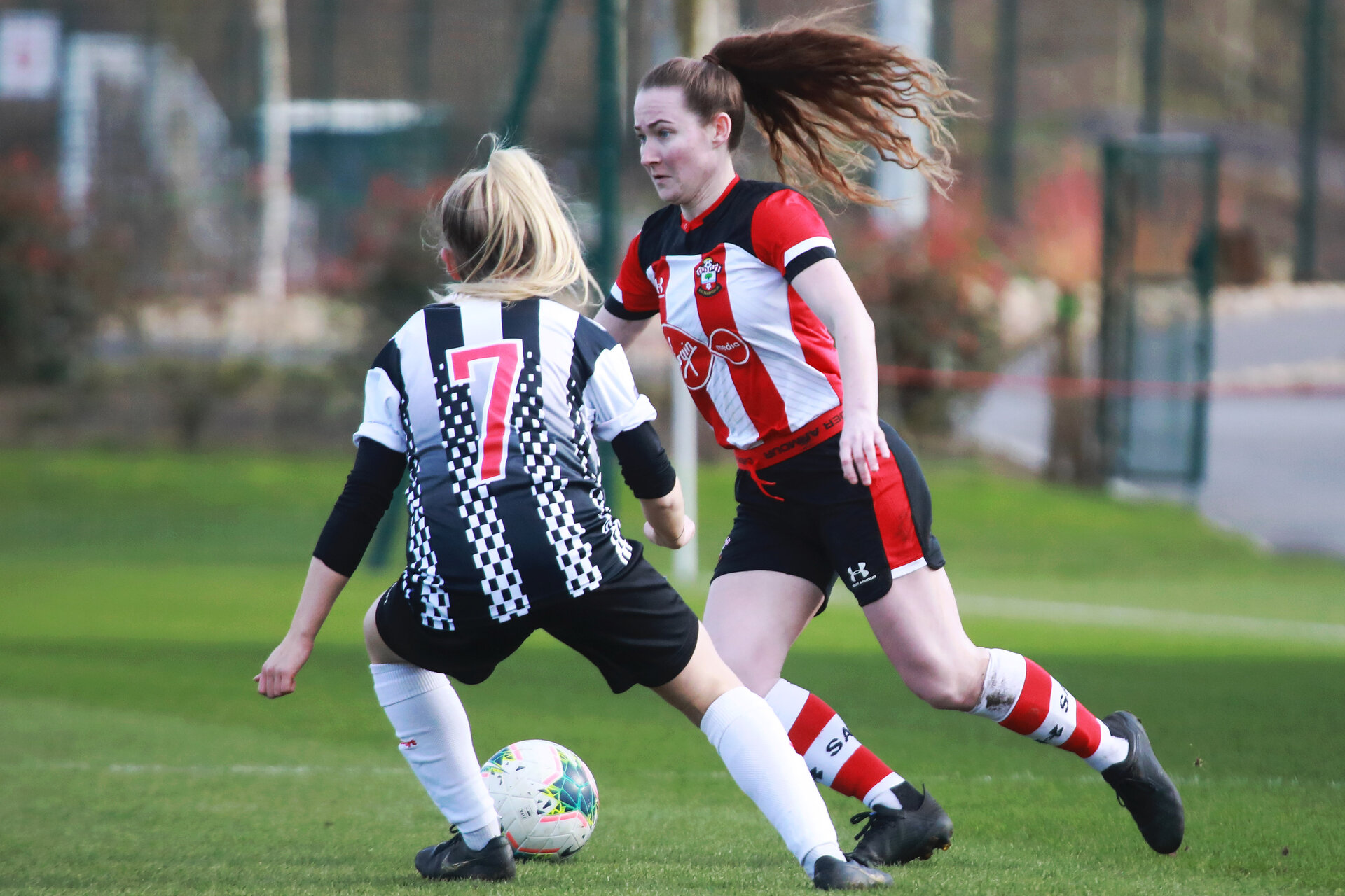 SOUTHAMPTON, ENGLAND - March 1: Charley Evans of Southampton FC Womens during the FA WomenÕs National League match between Southampton Women and Maidenhead United at Staplewood Campus on March 1 2020, Exeter, England. (Photo by Tom Mulholland/Southampton FC) SOUTHAMPTON, ENGLAND - March 1: Charley Evans of Southampton FC Womens during the FA Women's National League match between Southampton Women and Maidenhead United at Staplewood Campus on March 1 2020, Exeter, England. (Photo by Tom Mulholland/Southampton FC)