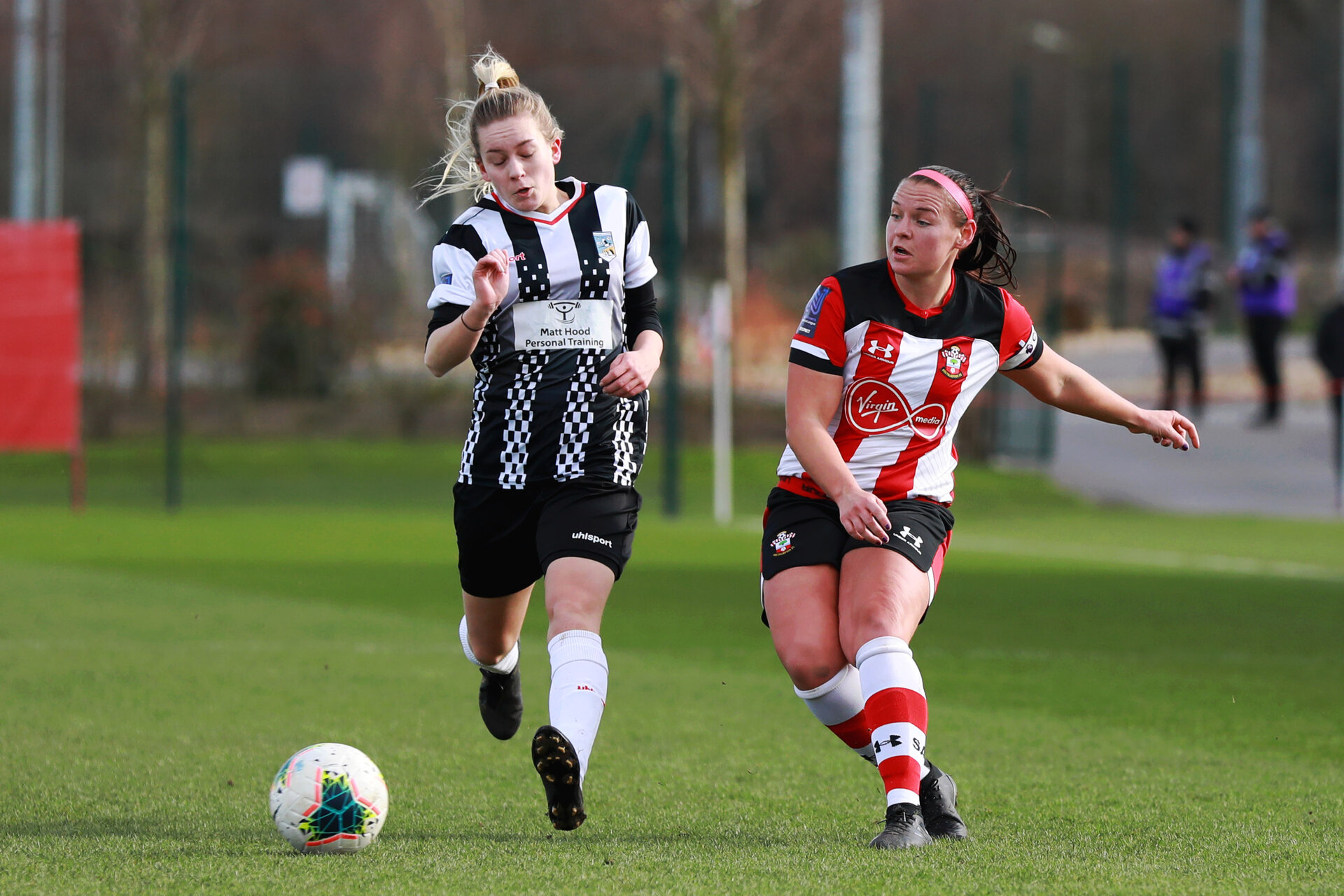 SOUTHAMPTON, ENGLAND - March 1: Shannon Sievwright of Southampton FC Womens during the FA WomenÕs National League match between Southampton Women and Maidenhead United at Staplewood Campus on March 1 2020, Exeter, England. (Photo by Tom Mulholland/Southampton FC) SOUTHAMPTON, ENGLAND - March 1: Shannon Sievwright of Southampton FC Womens during the FA Women's National League match between Southampton Women and Maidenhead United at Staplewood Campus on March 1 2020, Exeter, England. (Photo by Tom Mulholland/Southampton FC)