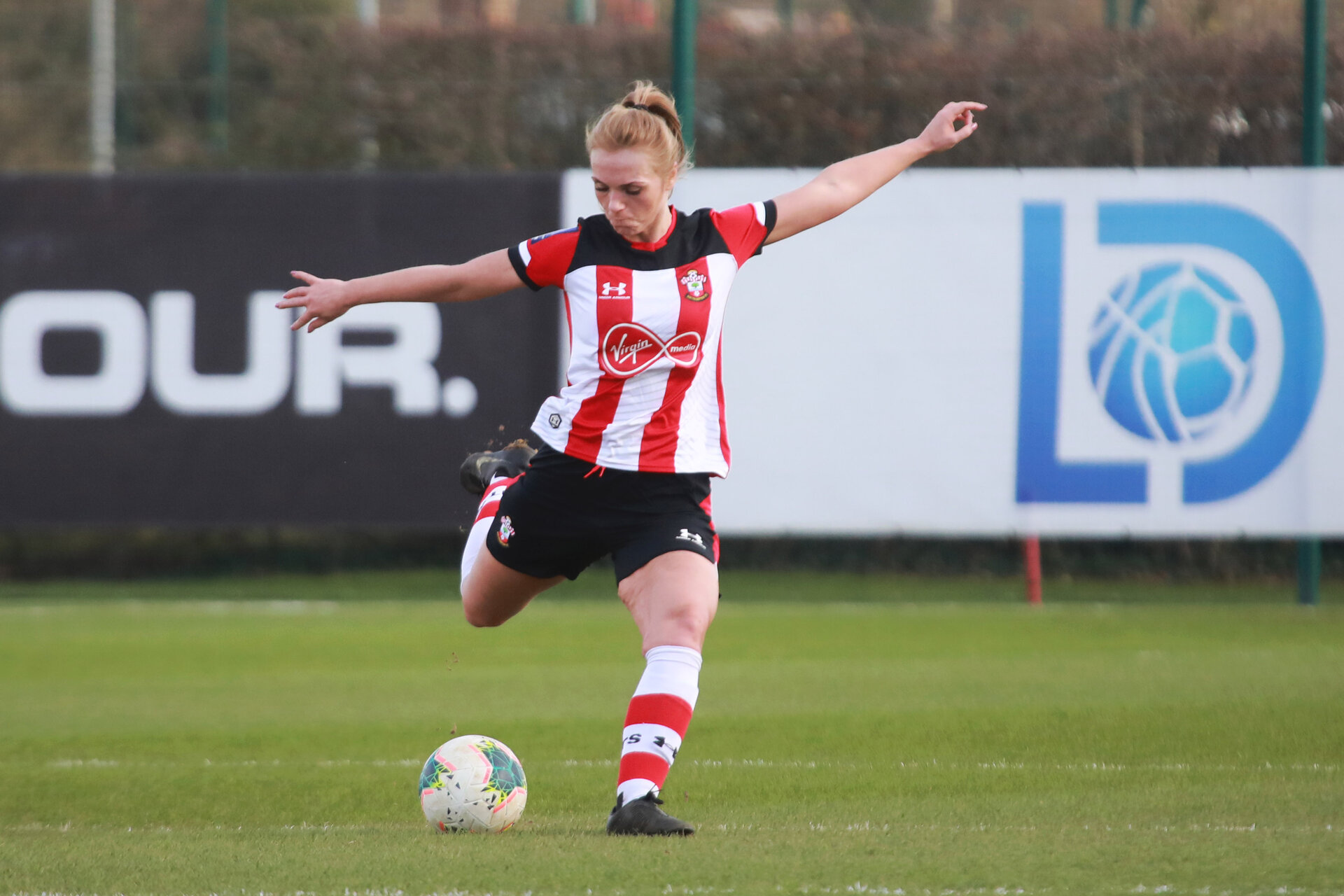 SOUTHAMPTON, ENGLAND - March 1: Rosanna Parnell of Southampton FC Womens during the FA Women's National League match between Southampton Women and Maidenhead United at Staplewood Campus on March 1 2020, Exeter, England. (Photo by Tom Mulholland/Southampton FC)