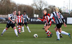 SOUTHAMPTON, ENGLAND - March 1: Phoebe Williams of Southampton FC Womens during the FA Women's National League match between Southampton Women and Maidenhead United at Staplewood Campus on March 1 2020, Exeter, England. (Photo by Tom Mulholland/Southampton FC)