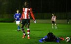 SOUTHAMPTON, ENGLAND - MARCH 02: Dan N'Lundulu during PL2 match between Southampton and Leicester City at Staplewood Training Center on March 02 2020 in Southampton England (Photo by Isabelle Field/Southampton FC via Getty Images)