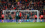 SOUTHAMPTON, ENGLAND - MARCH 07: Alex McCarthy of Southampton saves a penalty during the Premier League match between Southampton FC and Newcastle United at St Mary's Stadium on March 07, 2020 in Southampton, United Kingdom. (Photo by Matt Watson/Southampton FC via Getty Images)